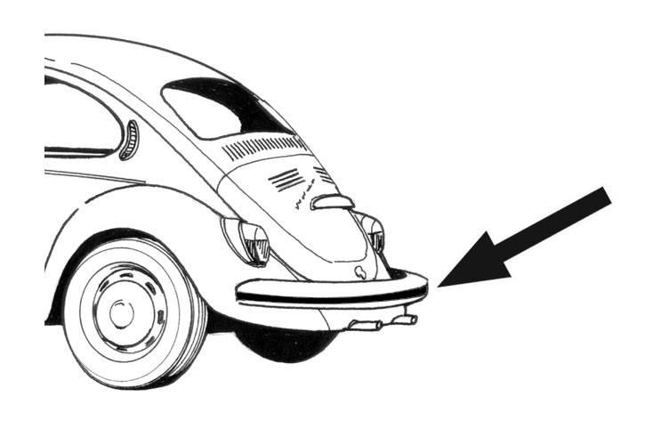 deco impact strip rear bumper rubber bug 1968 73 1995 Cadillac Sedan Deville 113 401a