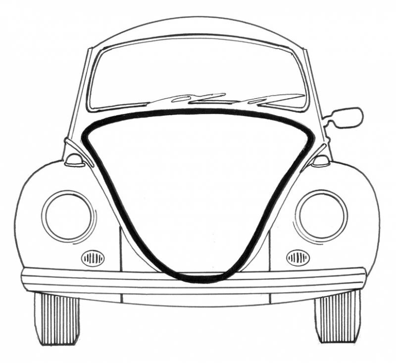 seal  front hood  german  std bug 1961