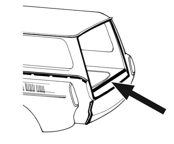 seal  lower inside rear hatch  type 3 squareback 1961