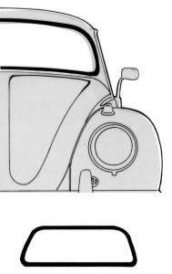 Window Rubber - Cal Look Window Rubber - 151-121B