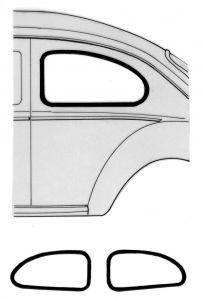Window Rubber - Cal Look Window Rubber - 111-321A