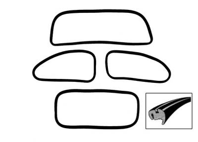 Window Rubber - Cal Look Window Rubber Kits - 111-0172C