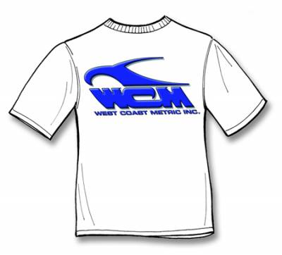 REPAIR BOOKS, STICKERS & T-SHIRTS - T-Shirts - 111-0177S T-SHIRT, WEST COAST METRIC, WHITE, SMALL