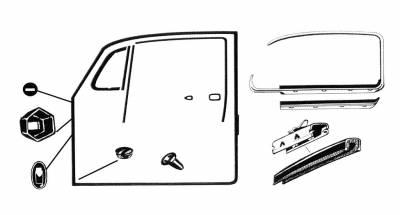 EXTERIOR - Door Rubber/Plastic - 111-0665