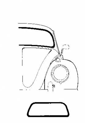 EXTERIOR - Windshields, Glass & Wiper Parts - 113-101D