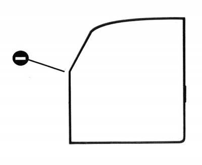 EXTERIOR - Door Rubber/Plastic - 111-249B