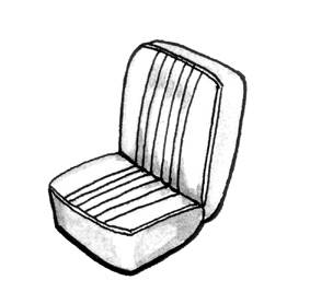 Seat Covers & Padding - Bug/Ghia Convertible Seat Cover Sets (Basket & Squareweave) - 141-795-GY