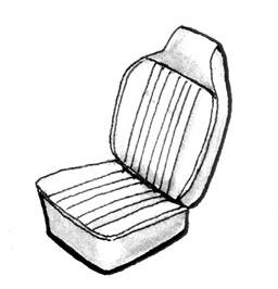 Seat Covers & Padding - Bus/Type 3 Front Seat Covers (Basket & Squareweave) - 311-806V-GY