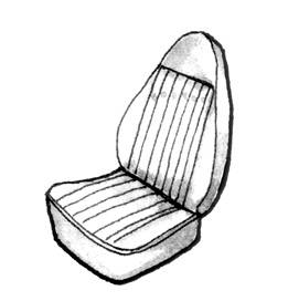 Seat Covers & Padding - Bug/Ghia Convertible Seat Cover Sets (Basket & Squareweave) - 153-051V-GY