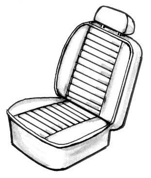 Seat Covers & Padding - Sedan Seat Cover Sets (Basket & Squareweave) - 113-053V-WH