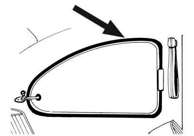 EXTERIOR - Quarter Window Popout Parts - 113-131B-BK