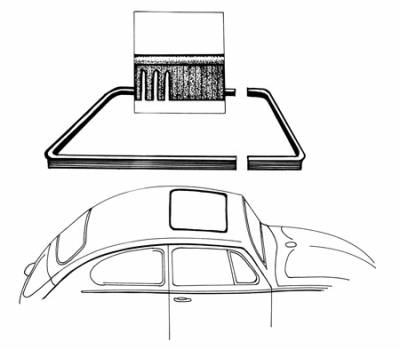 EXTERIOR - Sunroof Covers, Seals & Hardware - 117-007