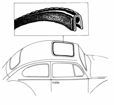 INTERIOR - Sunroof Covers, Seals & Hardware - 133-007A