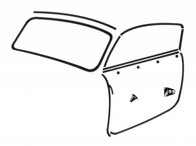 CONVERTIBLE TOP PARTS - Convertible Top Rubber, Pads, Hinge Covers & Parts - 141-023A
