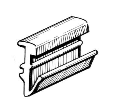 EXTERIOR - Door Rubber/Plastic - 141-335A