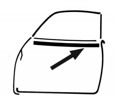 EXTERIOR - Door Rubber/Plastic - 141-475C-L/R