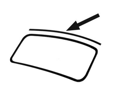 CONVERTIBLE TOP PARTS - Top Rubber - 151-349A