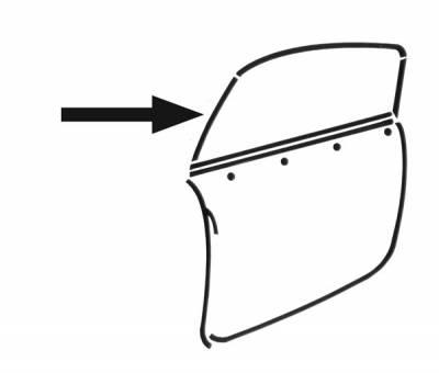 EXTERIOR - Door Rubber/Plastic - 141-923-L/R