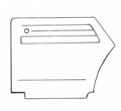INTERIOR - Door Panels, Quarter Panels & Accessories - 151-017-L/R-BK