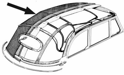 CONVERTIBLE TOP PARTS - Convertible Top Covers & Boots - 151-038V-WH