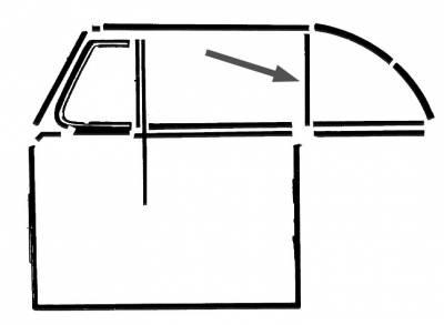 EXTERIOR - Door Rubber/Plastic - 151-341A