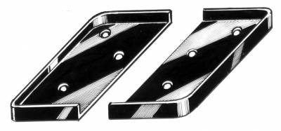 CONVERTIBLE TOP PARTS - Top Pads, Hinge Covers & Parts - 151-410-L/R