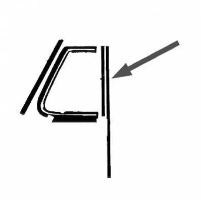 EXTERIOR - Door Rubber/Plastic - 151-433A