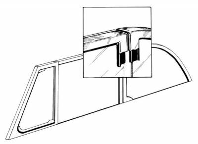 EXTERIOR - Door Rubber/Plastic - 151-439D