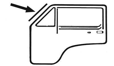 EXTERIOR - Door Rubber/Plastic - 155-8370