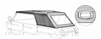 EXTERIOR - Thing Top Parts, Side Curtains & Car Covers - 181-039V-BK