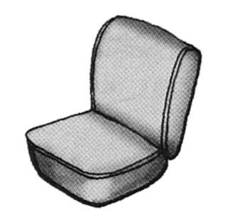 Seat Covers & Padding - Front Seat Covers - 181-048V-BK