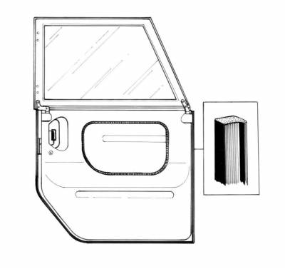 EXTERIOR - Door Rubber/Plastic - 181-721-L/R