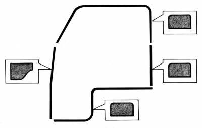 EXTERIOR - Door Rubber/Plastic - 211-120E-L/R
