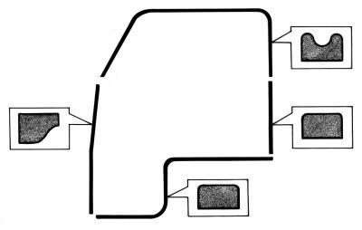 EXTERIOR - Body Rubber & Plastic - 211-120-L/R