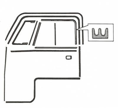 EXTERIOR - Door Rubber/Plastic - 211-380-L/R