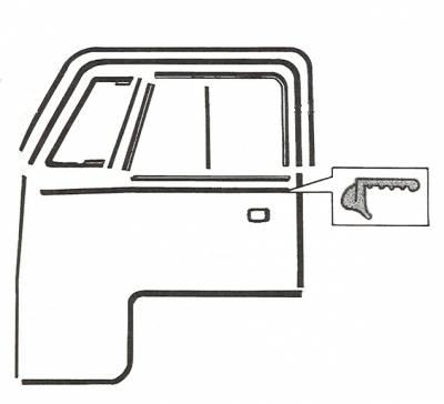 EXTERIOR - Door Rubber/Plastic - 211-395A