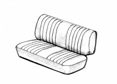 Seat Covers & Padding - Middle Seat Covers (Basket & Squareweave) - 221-809V-GY