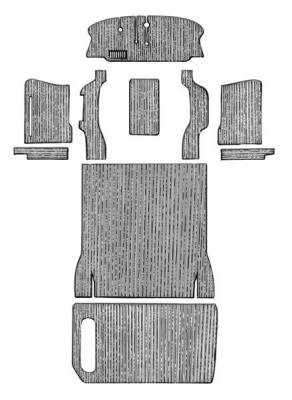 Carpet Kits & Floor Mats - Bus/Vanagon Carpet Complete Kits - 211-5564-BK-C