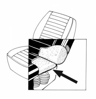 Seat Covers & Padding - Front Seat Pads (Sedan/Convertible) - 133-046-L/R