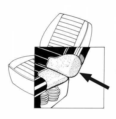 Seat Covers & Padding - Front Seat Pads (Sedan/Convertible) - 131-5055-FB
