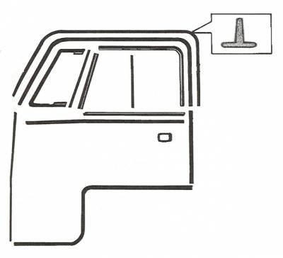 EXTERIOR - Door Rubber/Plastic - 211-835A