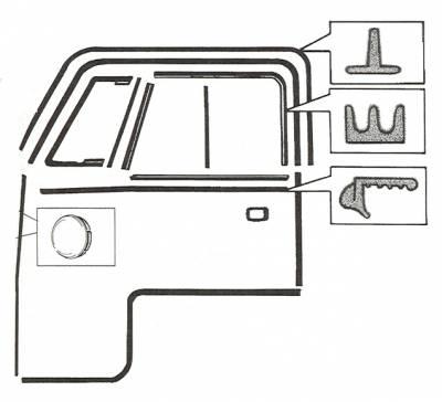 EXTERIOR - Door Rubber/Plastic - 213-029A