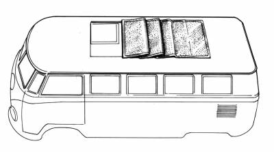 EXTERIOR - Sunroof Covers, Seals & Hardware - 226-577C-BK