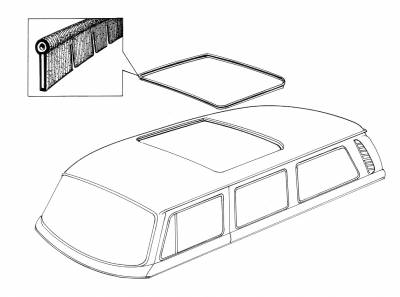 INTERIOR - Sunroof Covers, Seals & Hardware - 241-223