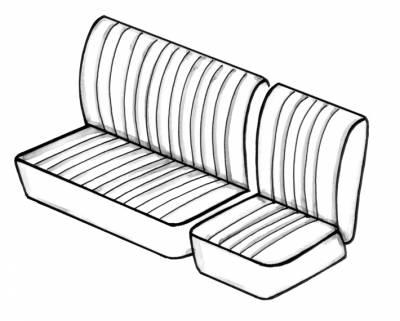 Seat Covers & Padding - Bus/Type 3 Front Seat Covers (Basket & Squareweave) - 241-455AV-BK