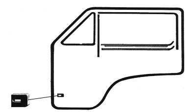 EXTERIOR - Door Rubber/Plastic - 251-8315