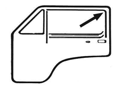 EXTERIOR - Door Rubber/Plastic - 255-8327