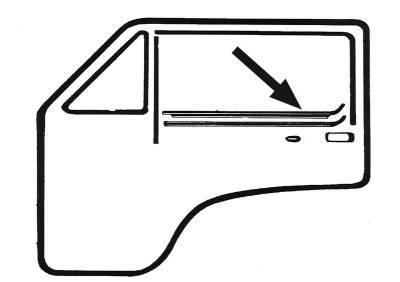 EXTERIOR - Door Rubber/Plastic - 255-8332