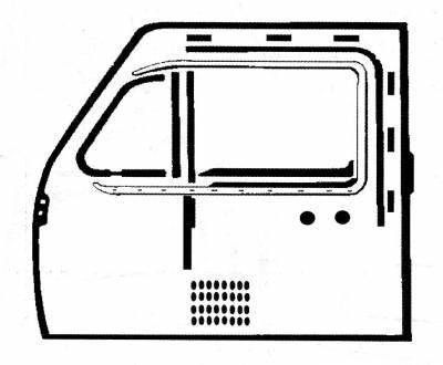 EXTERIOR - Door Rubber/Plastic - 311-060A
