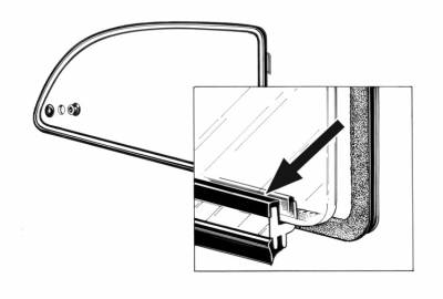 EXTERIOR - Quarter Window Parts - 311-145B-L/R